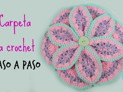 Tutorial flor decorativa a crochet