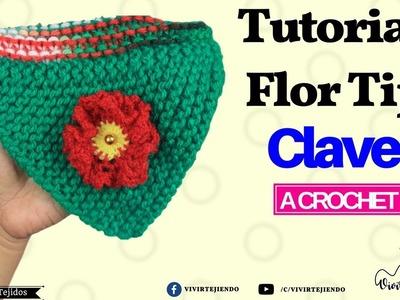 Tutorial Flor tipo Clavel a Crochet | Curso de tejidos | vivirtejiendo