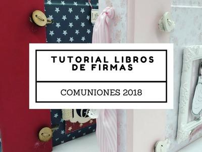 Tutorial libro de firmas comunión 2018