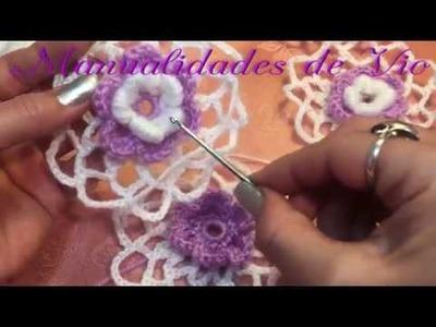 Tutorial Motivo #12 crochet paso a paso