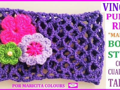 "Vincha a Crochet con Tallas ""Mallita"" Punto Red Tutorial por Maricita Colours"