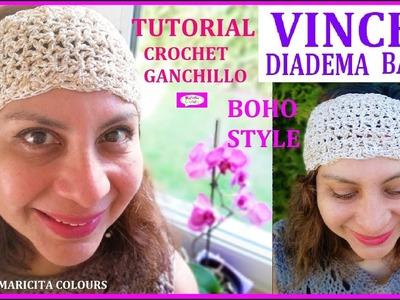 Vincha en Boho Style a Crochet con TALLAS Tutorial por Maricita Colours