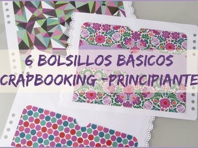 6 Bolsillos básicos -  Scrapbooking - Principiantes