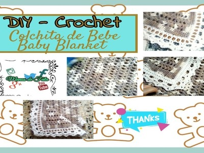 #7 Colchita de BB Part  1. BABY BLANKET EASY CROCHET