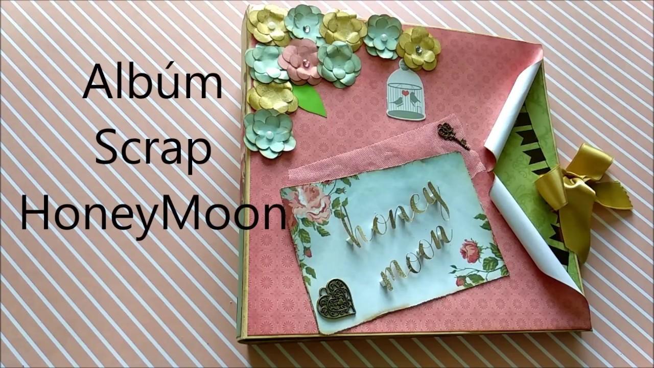 Album Scrapbooking - Honeymoon Album scrap - Encuadernación espina