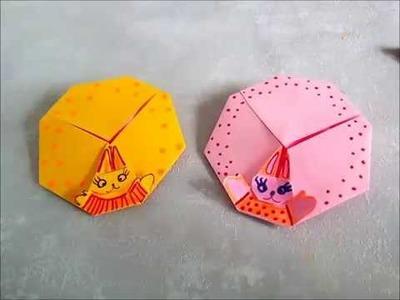 Aprende a hacer sobres de papel. Huevo de Pascua con Conejito. Origami