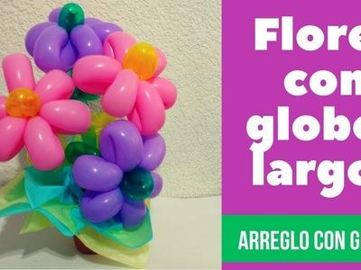 Arreglo de  globos. flores con globos .  DIY Ideas Regalos . Globoflexia
