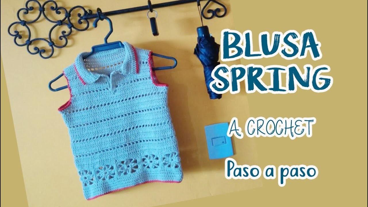 Blusa Spring a Crochet - paso a paso