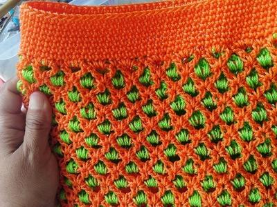 Bolso Tejido a Crochet En Punto Red