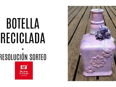 Botella reciclada - resolución sorteo MP