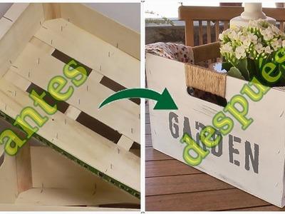 Cajón organizador reciclando cajas de frutas. Ideas con cajas de madera