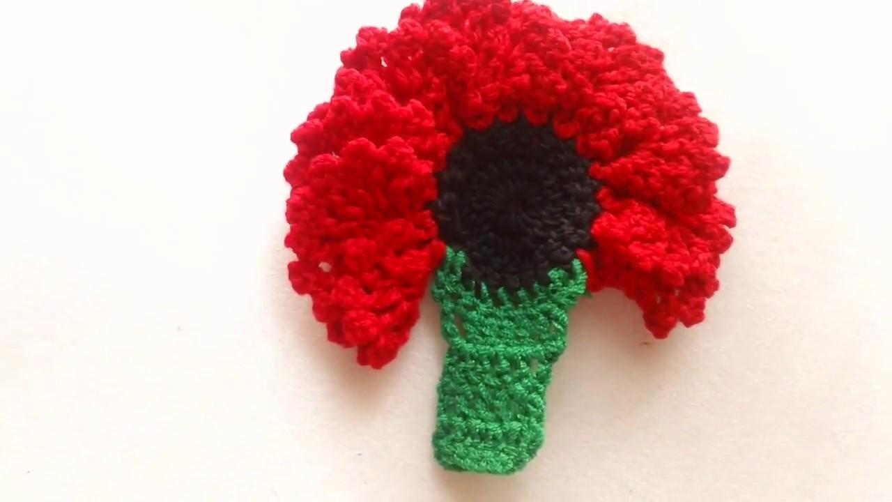 Clavel a crochet # 2