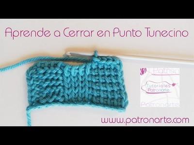 Cómo Cerrar Puntos en Punto Tunecino - Crochet Tunecino