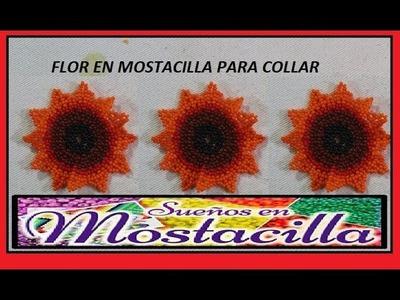 COMO HACER FLOR PARA COLLAR EN MOSTACILLA