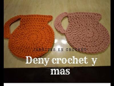 Como Hacer Jarrita en crochet para agarrar las cosas calientes