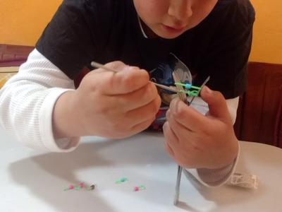 Cómo hacer pulceras de Hama Beads y ligas
