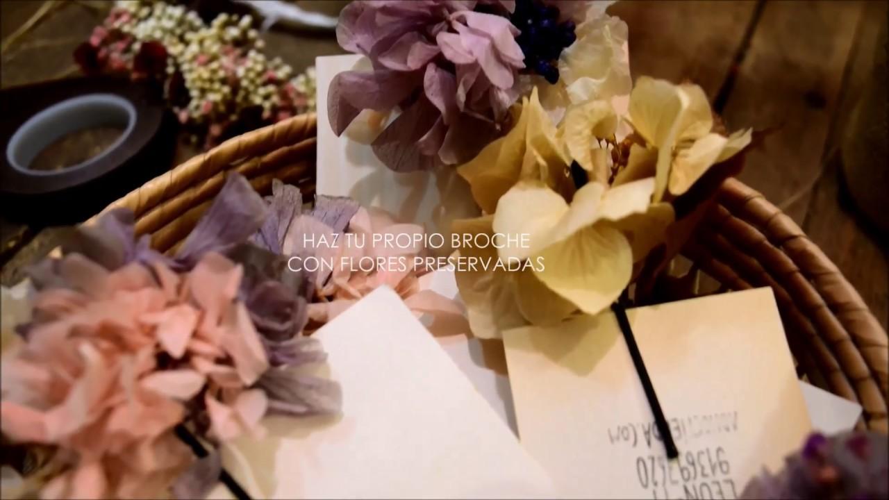 Como hacer un broche con flores preservadas | DIY
