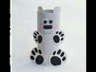Como hacer un perrito con tubos de papel higienico-el blog de suli