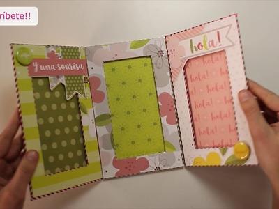 Cómo hacer un portafotos triptico con papel estampado