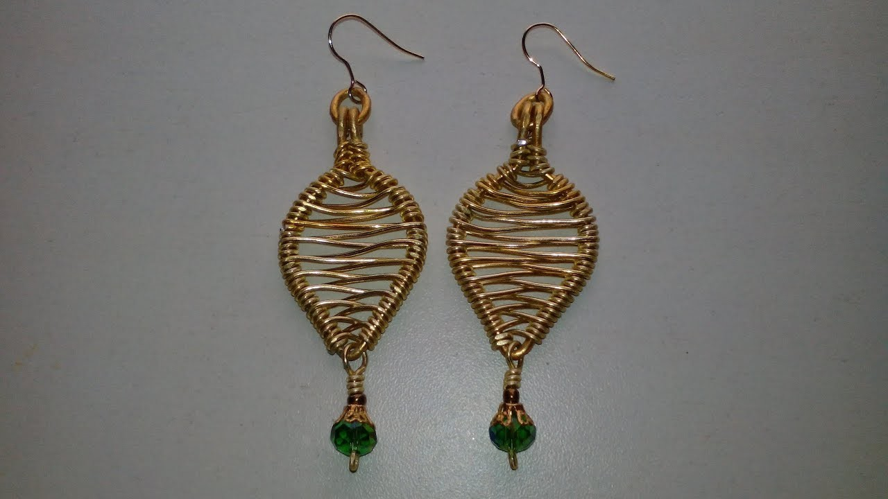 COMO HACER UNOS PENDIENTES DE HOJA, ESPIGA-  How to make earrings of leaves, technique of a spike.
