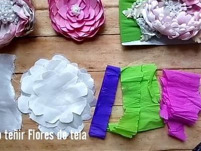 Como pintar Flores de tela. tiara de bebe