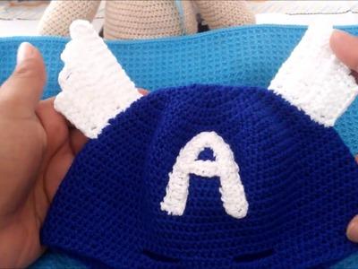 Como tejer boina de super héroe a ganchillo crochet