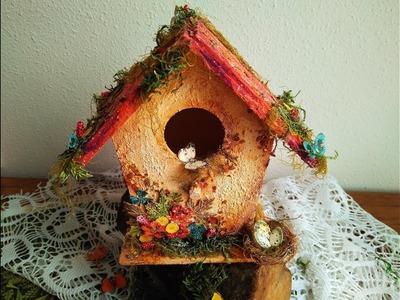 Cómo transformar una casita de pájaros de 1€ - TUTORIAL - Wooden Bird House