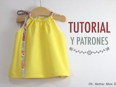 Costura vestido halter para niñas (patrones gratis)