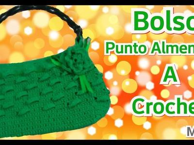 Crochet: Bolso Punto Almendras - Manualidades La Manita Felíz