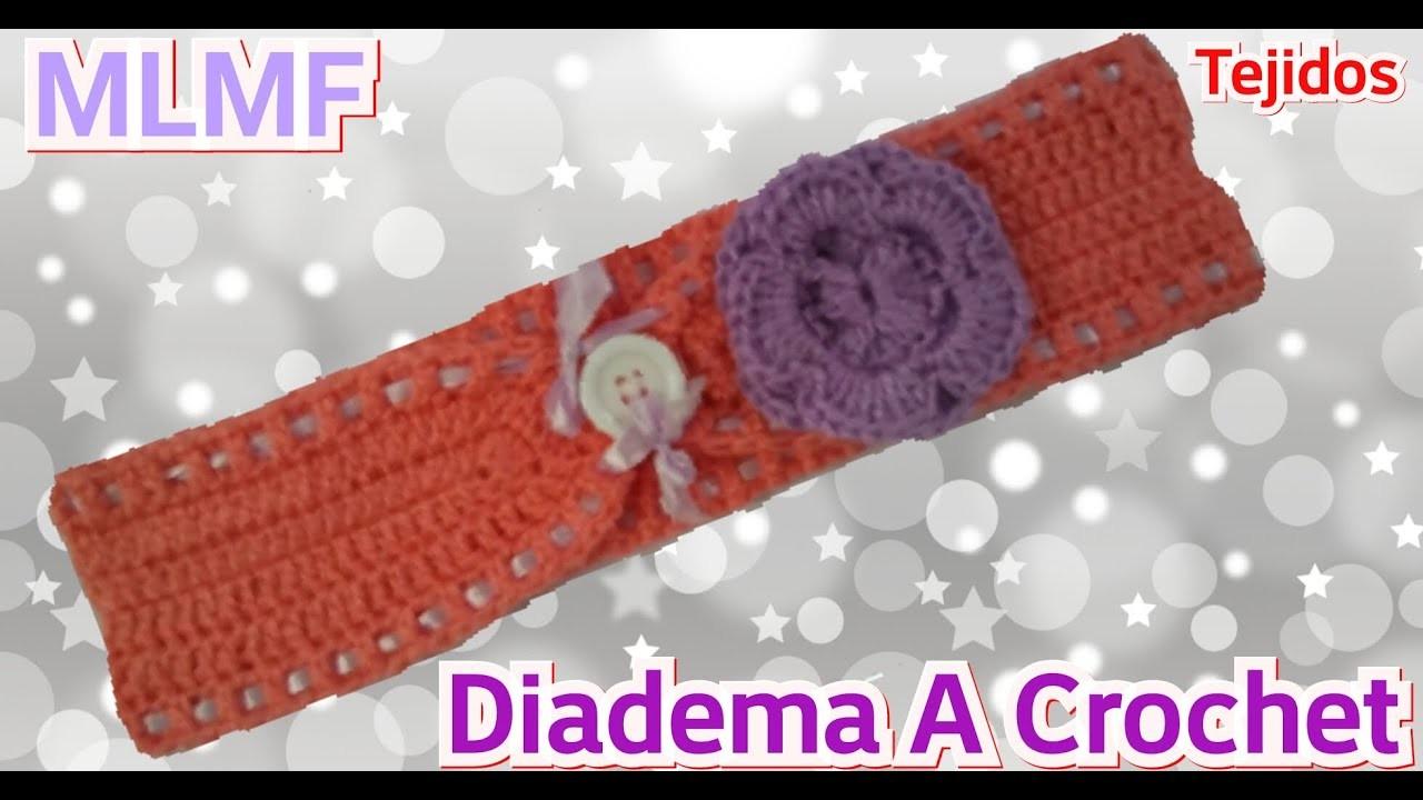 Crochet: Diadema, Vincha o Banda para el cabello- Manualidades La Manita Felíz