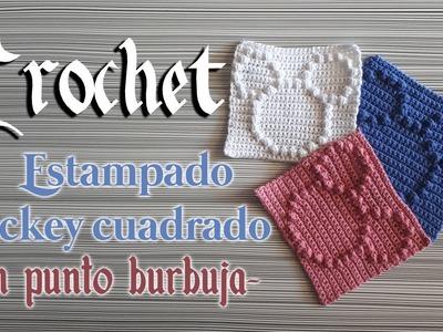 ???? Crochet MICKEY MOUSE GRANNY Tutorial con PUNTO PUFF