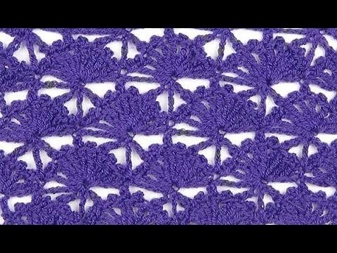 Crochet: Punto Abanico # 24 Recto