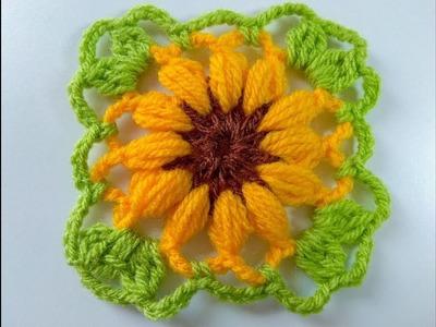 Cuadro floral para mantas y cobija muy fácil y rápido