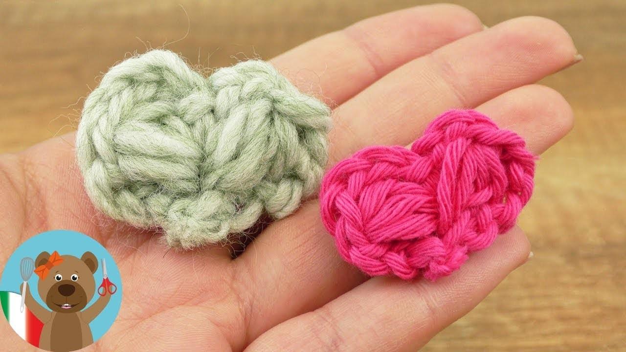 Cuoricini realizzati in lana   Idee regalo fai da te   DIY Facile