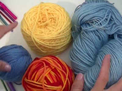 Curso crochet o ganchillo: Como es la relación entre hilo.lana y agujas. Moda a Crochet