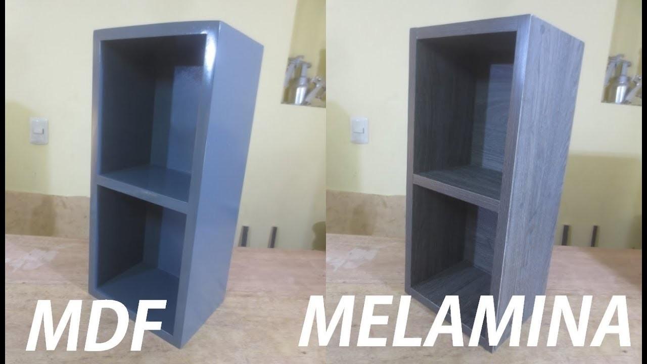 DIFERENCIA ENTRE MDF Y MELAMINA (Con ejemplos) - LUIS LOVON