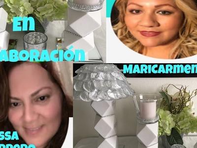 DIY candelabros y lámpara decorativa en colaboración con Melissa guerrero