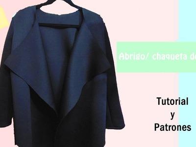 DIY Cardigan de dama en tela neopreno. Tutorial y Patrones gratis