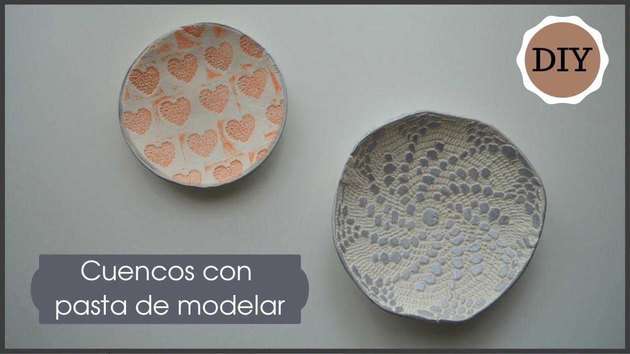 DIY: CUENCOS CON PASTA DE MODELAR. Dos técnicas diferentes   LaMaletadeRayas