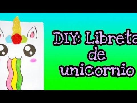 DIY: Libreta de unicornio ????