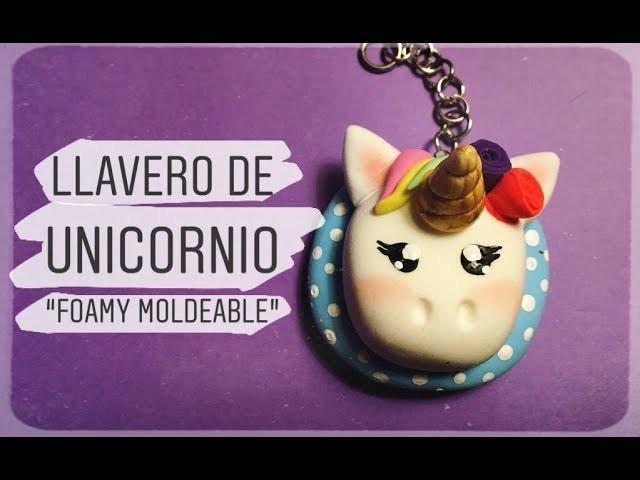 DIY | Llavero de UNICORNIO | Fomi.Foamy Moldeable ♥