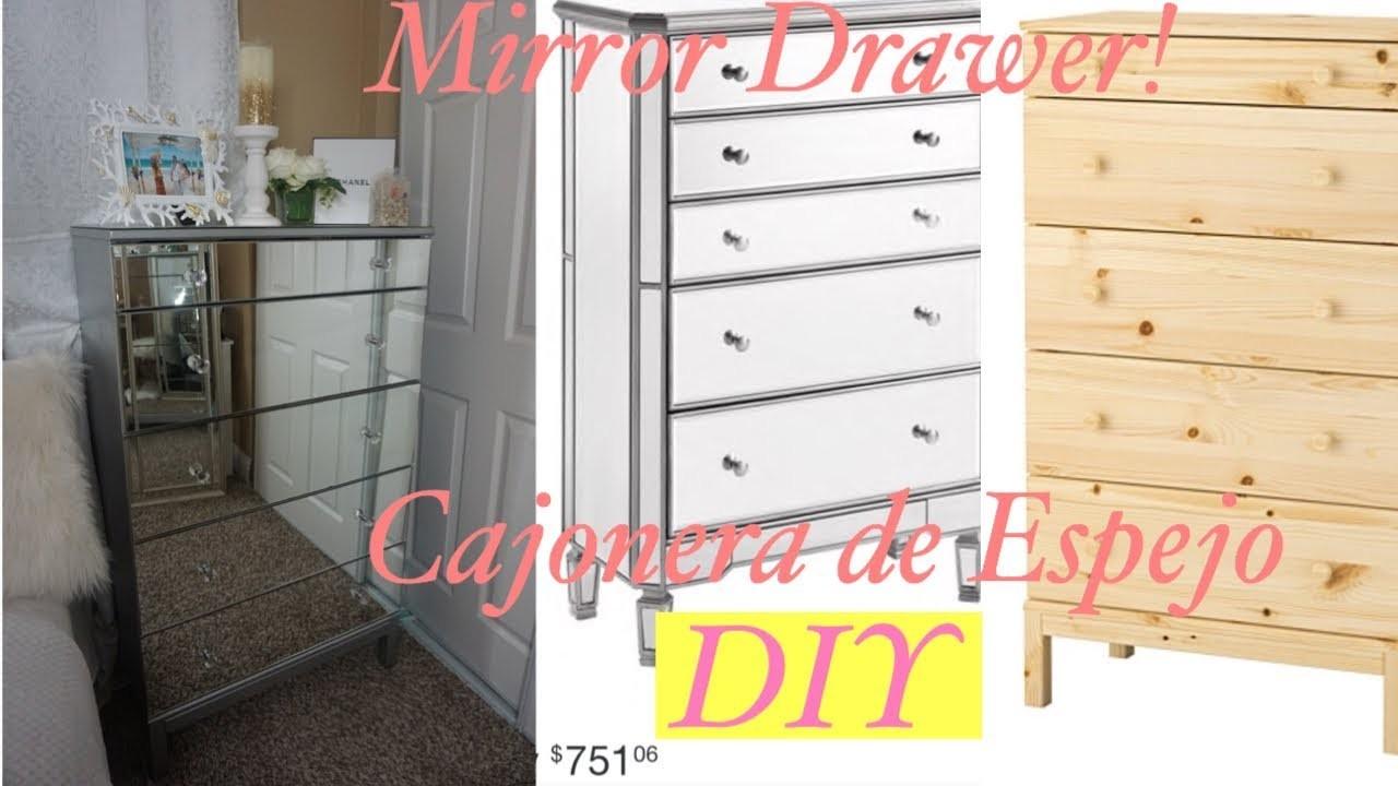 DIY: Mirror Drawer- Cajonera de Espejo- Buena, bonita y barata