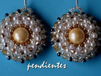 DIY - Pendientes princesa Carolina - Princess Carolina earrings