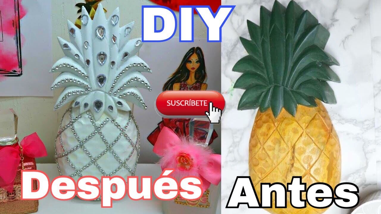 DIY Piña Decorativa.Glam. Decorhome.Decor ????