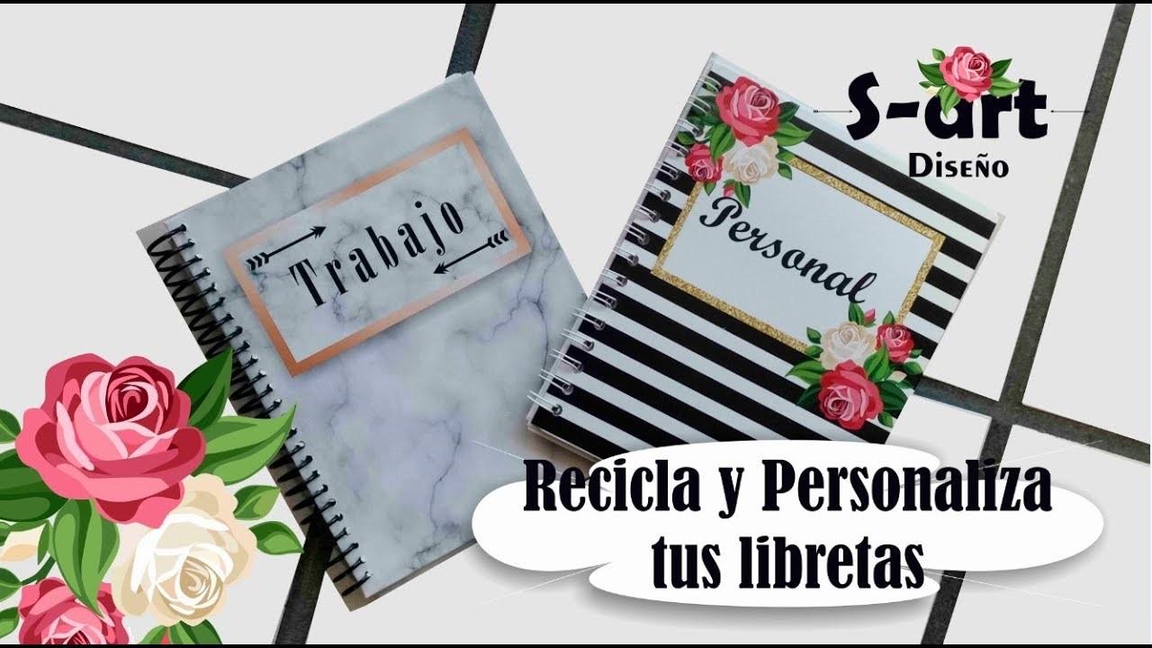 DIY Recicla tus libretas.cuadernos