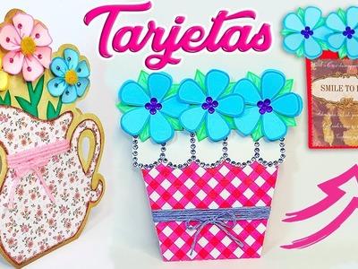 ???????? Diy: Tarjetas o Invitaciones Florales Fácil y Rápido PARA REGALAR || #SemanaDeRegalos 6 ????????