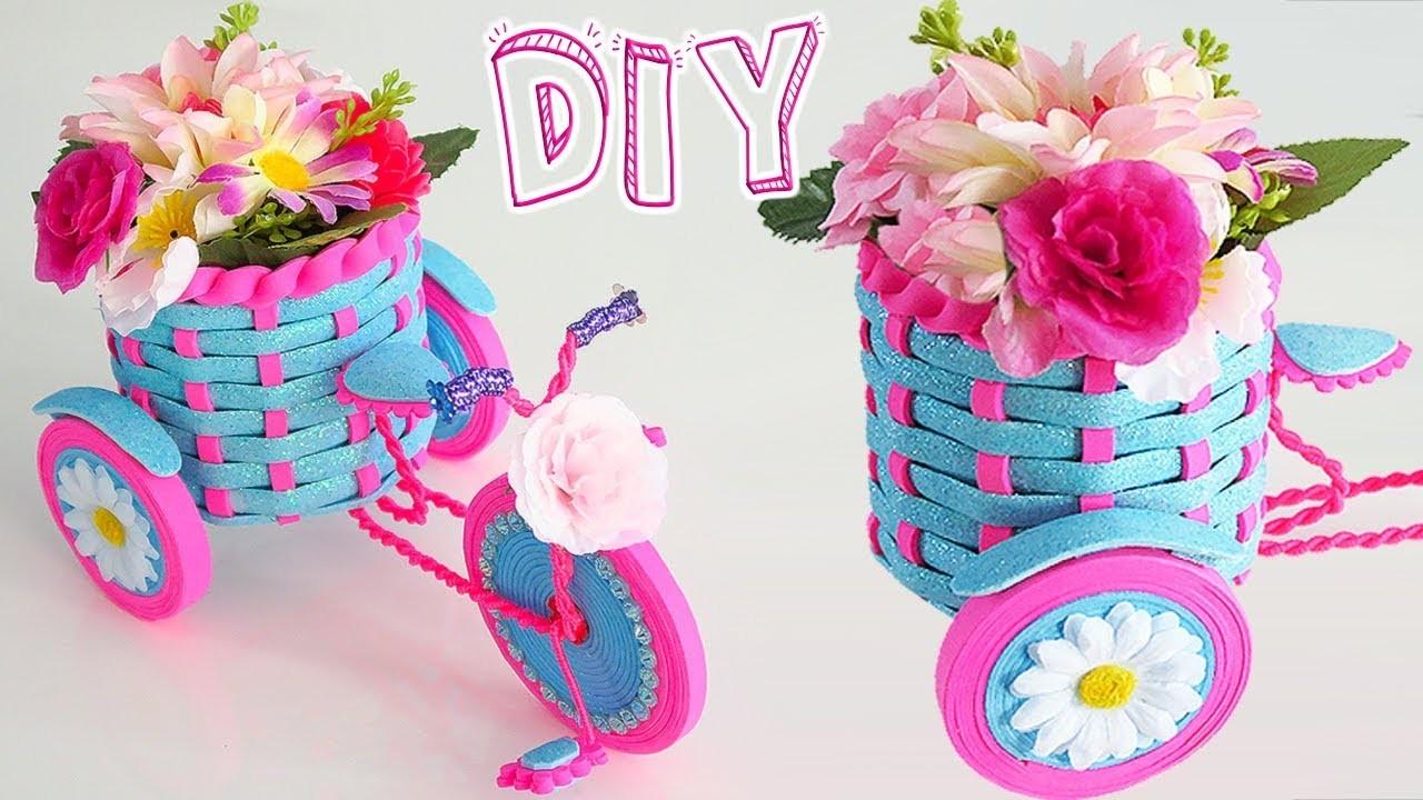 ???????? Diy: Triciclo Floral Decoración PARA REGALAR || #SemanaDeRegalos 3????????