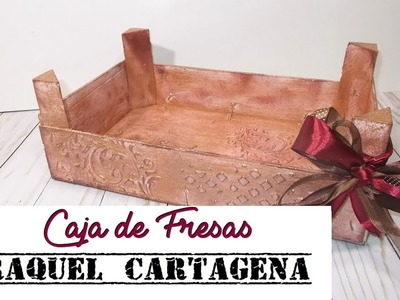 DIY TUTORIAL caja de fresas decorada scrapbooking mixed media