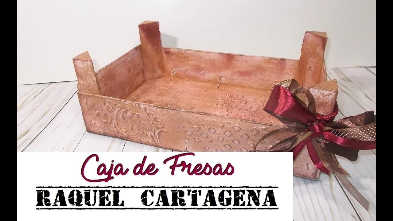 DIY TUTORIAL caja de fresas decorada scrapbooking mixed media
