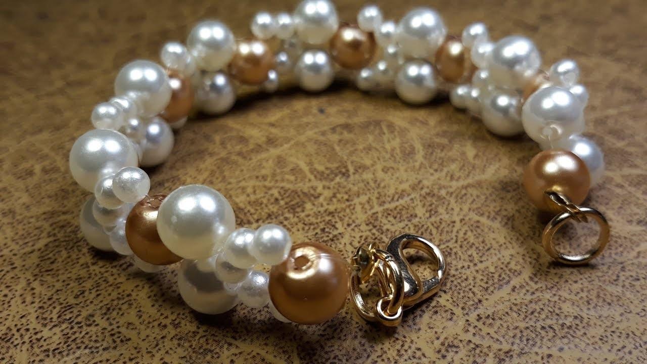 Elegante y Sutil Pulsera de Perlas. Clase #97!!!